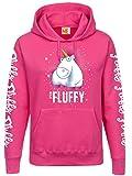 MINIONS Einhorn - It's so Fluffy Bubbles Girl-Kapuzenpulli Pink L