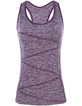 Disbest sport canotta senza maniche tee t-shirt Seamless Tech Tank elastico Athleisure donne yoga canottiera per...
