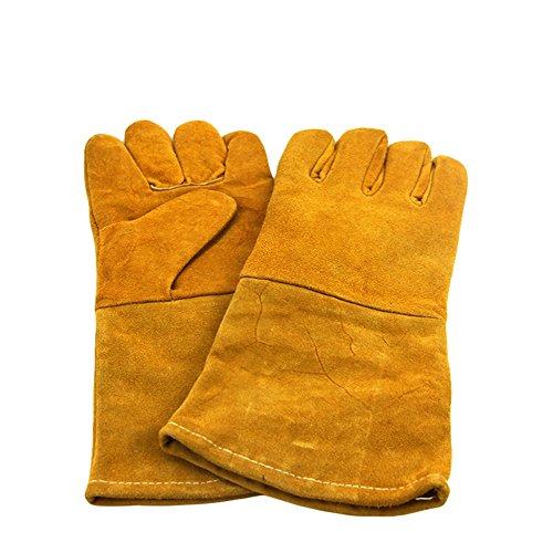 SK Studio Grillhandschuh Hitzebeständig Ofenhandschuhe Lang BBQ Handschuhe...