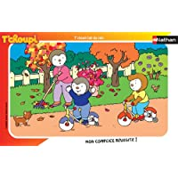 Nathan - 86109 - Puzzle Enfant avec cadre - T'choupi Fait du Vélo - 15 Pièces