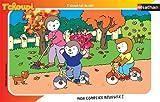 Nathan 86109 - Puzzle Enfant avec cadre - T'choupi Fait du Vélo - 15 Pièces