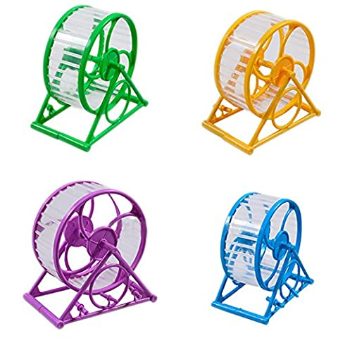 Small Animals Pet Hamster Mouse Mice Exercise Running Wheel Toy Sports Spinner Random Color