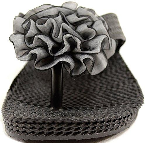 Absolute Footwear , Damen Sandalen Schwarz