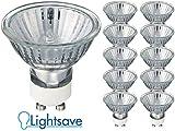 10 Ampoule Lampe Spot Halogène GU10 35W Blanc Chaud