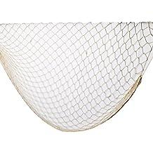 Sicai, rete da pesca decorativa, di colore bianco, per abbellire pareti, feste e bar, 100 x 200 cm