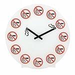 NO SMOKING WALL CLOCK BY PRIME FURNISHING