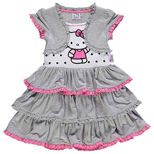 Character Mädchen Kleid Gr. 5-6 Jahre, hello (Hello Kitty Mädchen Kleid)