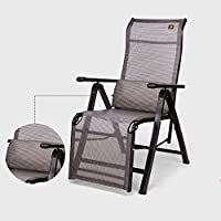 ZHIRONG Summer Fold Recliners Office Siesta Chair Armchair Portable Outdoor Chair Sun Loungers Garden Chair Beach Chair Zero Gravity Chair (Color : Black)