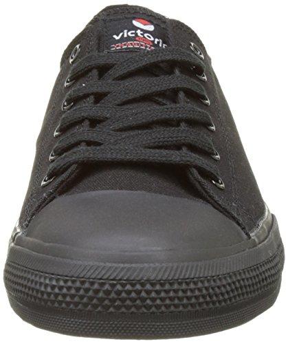 victoria Unisex-Erwachsene Zapato Basket Piso Negro Flach Schwarz (Negro)