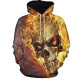 Kanpola Oversize Herren Shirt Slim Fit Schwarz Adler Totenkopf 3D Bedruckte T-Shirt Pullover Kapuzenpullover Hoodie Sweatshirt,003