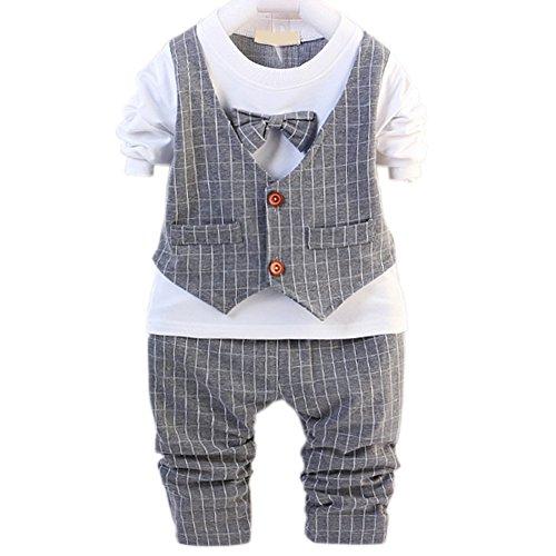 DIIMUU Baby Jungen Anzug Gr. 98, grau