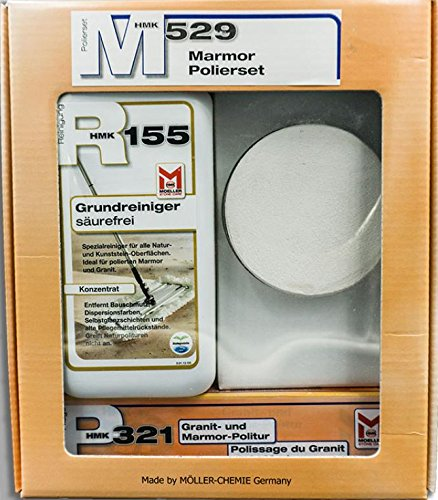 Moeller Stone Care HMK M529 Marmor-Polier-Set (R155, P321, Polierstein)
