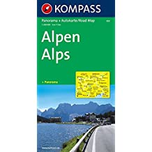 Kompass Panorama-Karten, Alpen
