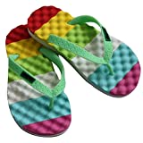 Diapolo Kinder Badeschuhe Flip-Flops Badelatschen Badeschlappen Sandale (grün, 30)