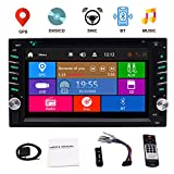 EinCar Doppio 2 Stereo Din GPS Car DVD Player CD con slot 6.2 pollici capacitivo touch Supporto dello schermo FM AM RDS Radio AUX USB della carta di Dual SD ricevitore audio Bluetooth + telecomando