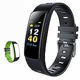 iWOWNfit i6HRC Fitness Tracker Farbdisplay Fitness Armbanduhr Smart Band mit Schrittzähler, Pulsmesser, Schlafmonitor, Smart Armband Pedometer mit Ersatzband für iOS & Android
