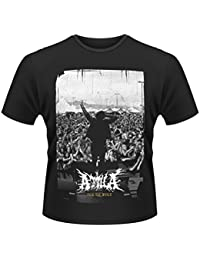 Plastic Head Men's Attila Crowd Banded Collar Short Sleeve T-Shirt