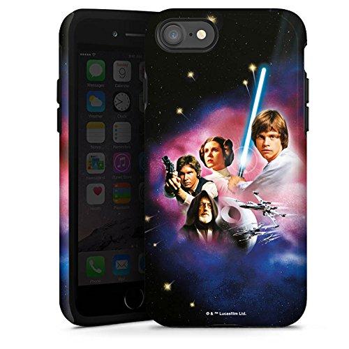 Apple iPhone X Silikon Hülle Case Schutzhülle Star Wars Merchandise Fanartikel A new hope Tough Case glänzend