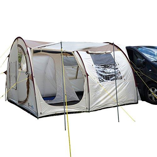 skandika Esbjerg Travel freistehendes Busvorzelt, mit Fest eingenähtem Zeltboden und Schlafkabine für 2 Personen