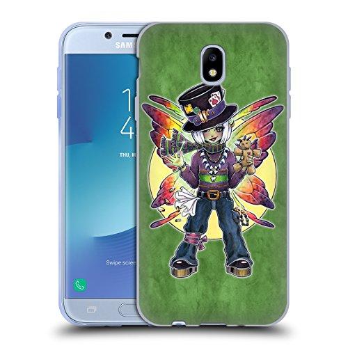 (Head Case Designs Offizielle Brigid Ashwood Mardi Gras Feen 2 Soft Gel Hülle für Samsung Galaxy J7 2017 / Pro)