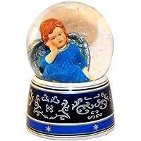 20030 Bola de nieve navidad ángel con musica medida 140 mm