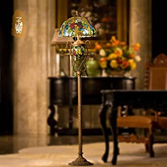 tiffany continental gehobenen retro stehlampe 2 gluhbirnen beleuchtung. Black Bedroom Furniture Sets. Home Design Ideas