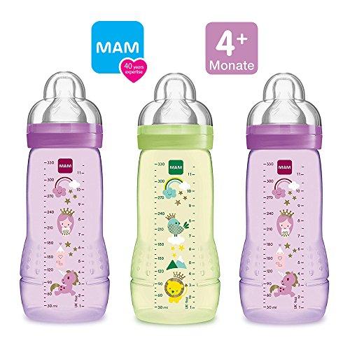 MAM Anti Colic Flasche 260 ml mit Anti Colic Sauger Gr.1 farblich sortiert *NEU*