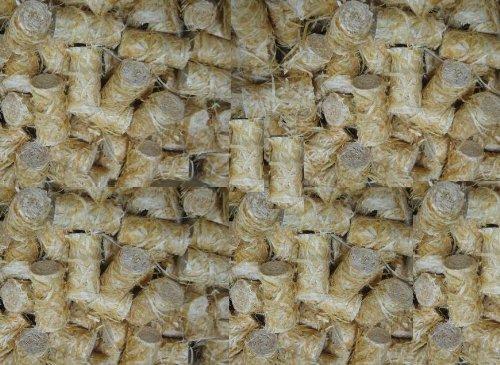 12,5kg also ungefähr 1100 Stück natürliche Ofenanzünder aus 100 % Kiefern-Holzwolle in Wachs getränkt # Grillanzünder Wachs Kaminanzünder Sauna Feueranzünder Anzündwürfel Holzwolleanzünder Anzündhilfe natürliche Holzanzünder