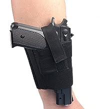 Incasso universale nero Carry caviglia gamba pistola fondina per pistola LCP LC9PF9piccolo per Sig 223Sccy 9mm