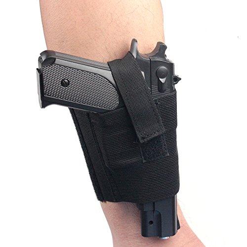 Verdeckter Universal schwarz Carry Knöchel Bein Pistole Gun Holster LCP LC9PF9klein für SIG 223sccy 9mm - Verdeckte Auto Gun Holster
