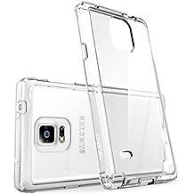 Carcasa Galaxy Note 4 - i-Blason Halo Series Samsung Galaxy Note 4 Funda hibrida transparente anti arañazos / cubierta antigolpes en TPU (Claro)