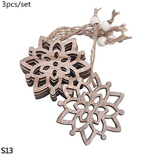 FENGZE Weihnachtsfeier Anhänger Dekoration Schneeflocke Sterne Engel Weihnachtsbaum Home Decoration S13