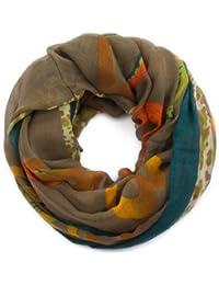 style3 Leichter Damen Loop Hals-Schal mit Ringen in italienischem Barock Design