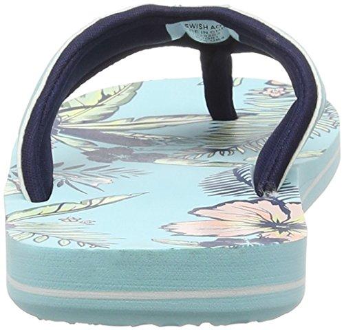 Animal Damen Swish Aop Sandalen, One Size Blue (Peppermint Blue)