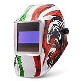 LAIABOR Máscara De Soldador De Soldador De Oscurecimiento Automático Solar Oscurecimiento Automático Y Ajustable para MIG/TIG/MMA