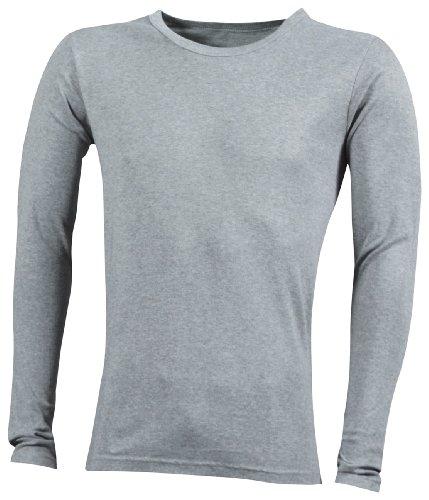 James & Nicholson Herren Langarmshirt Shirt Longsleeve grey-heather