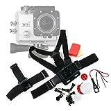 Kit de accesorios para cámaras deportivas Excelvan Q3 / Q5 / DV Y8 / Elephone ELE CAM Explorer - DURAGADGET
