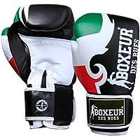 Boxeur des rues Fight Activewear Guantes de boxeo con logotipo y estampado tribal negro Flag-Italy Talla:16 OZ