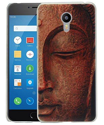 Jkobi Fashionable Printed Designed Hard Shell Back Cover For Meizu M3 Note -Classic Gold Buddha  available at amazon for Rs.170
