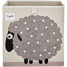 3Sprouts - Caja de almacenamiento, diseño de oveja, multicolor