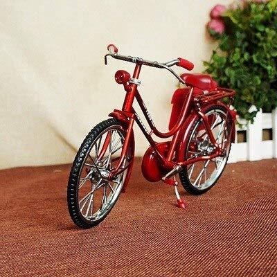 XMDNYE Kreative Vintage Eisen Fahrrad Modell Ornamente Klassische Fahrrad mit Aufblasbaren Feuerzeug Desktop Handwerk Home Office Dekoration Geschenke