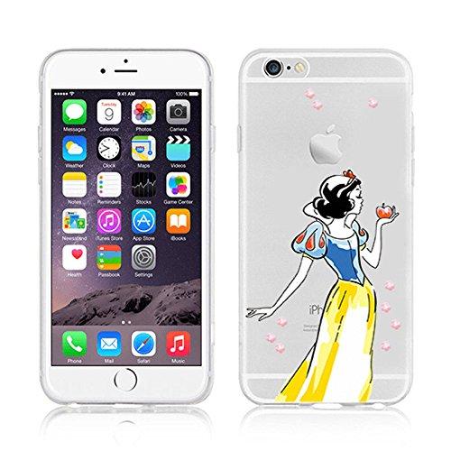 New Disney Prinzessinnen transparent klar TPU Soft Case für Apple iPhone 5/5S, plastik, RAPUNZEL .1, Apple iPhone 5/5S SNOW WHITE .4