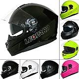 Best Crash Helmets - Leopard LEO-828 DVS Full Face Motorbike Helmet Black Review