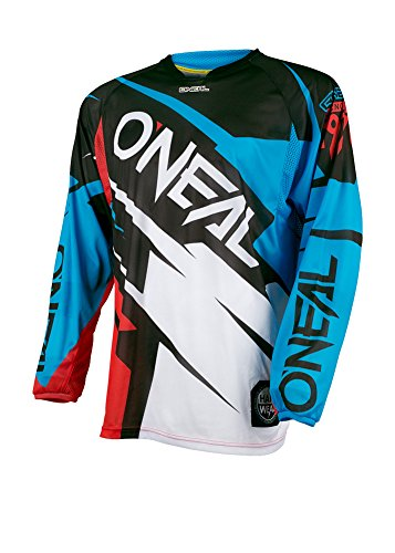 O'Neal Hardwear MX Jersey Flow Jag Blau Rot Trikot Motocross Enduro Cross Motorrad, 0032H-40, Größe M (Bike Jersey Flow)