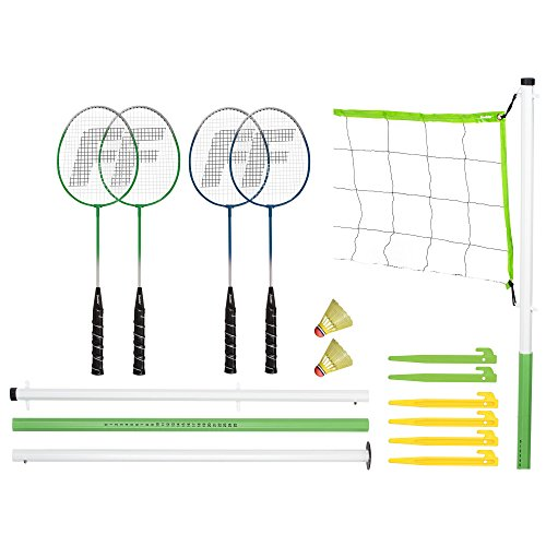 Franklin Sports Volleyball & Badminton Combo-Set
