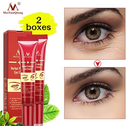 Dinglong 2 Augencreme feuchtigkeitsspendende Falten Anti-Aging-Augenringe zu feinen Linien feuchtigkeitsspendende straffende straffende Anti-Falten-Augencreme