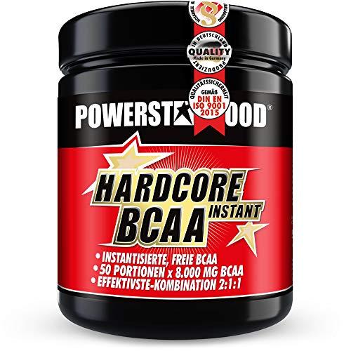 Perfekt auflösende Hardcore BCAA - Pre-, In-Workout Pulver - Hardcore-Dosierung - L-Leucin, L-Isoleucin, L-Valin - plus Vitamin B2 / B6 -ein Muß im Kraftsport - top Geschmack - deutsche Herstellung