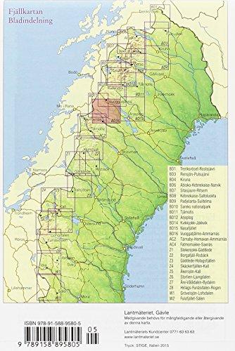 Fjällkartan 1 : 100 000 BD16 Vuoggatjåme - Ammarnäs Bergwanderkarte 1 : 100 000: Alle Infos bei Amazon