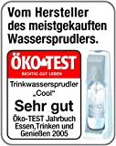 SodaStream Wassersprudler Crystal Megapack (mit 1 x CO2-Zylinder 60L und 3 x 0,6L Glaskaraffen), Titan-silber -