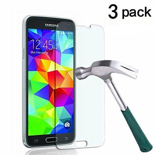 Cardana | 3x bruchsicheres Panzerglas für Samsung Galaxy S5 Mini | Schutzfolie aus 9H Echt Glas | angenehme Handhabung| Schutzglas zum Schutz vor Displayschäden | blasenfreie Anbringung | 3 Stück…